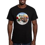 Treat - 4 Cavaliers Men's Fitted T-Shirt (dark)