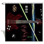 Space Bass Shower Curtain
