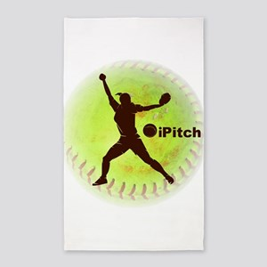 iPitch Fastpitch Softball 3'x5' Area Rug