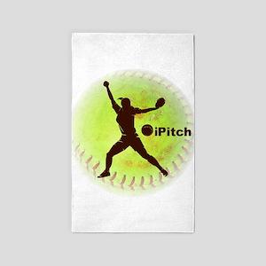 iPitch Fastpitch Softball 3'x5' Area Rug