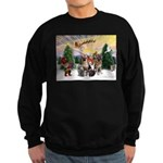 TakeOff3-2dogs-2cats Sweatshirt (dark)