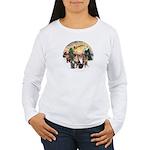 TakeOff3-2dogs-2cats Women's Long Sleeve T-Shirt