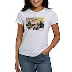 TakeOff3-2dogs-2cats Women's T-Shirt