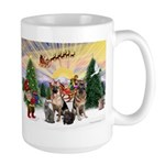 TakeOff3-2dogs-2cats Large Mug