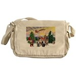 TakeOff3-2dogs-2cats Messenger Bag