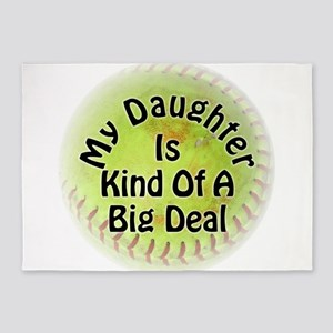 Daughter Big Deal Softball 5'x7'Area Rug