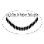 Pearl Necklace Parody Sticker (Oval 10 pk)
