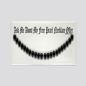 Pearl Necklace Parody Rectangle Magnet