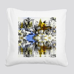 Winter Warrior Reflection Square Canvas Pillow