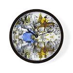 Winter Warrior Reflection Wall Clock