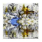 Winter Warrior Reflection Tile Coaster