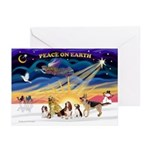 Xmas Sunrise - Five Dogs Greeting Cards (Pk of 20)
