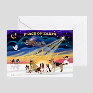 Xmas Sunrise - Five Dogs Greeting Card
