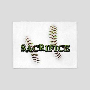 Sacrifice Fastpitch Softball 5'x7'Area Rug