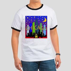 Chicago Skyline nightlife Ringer T