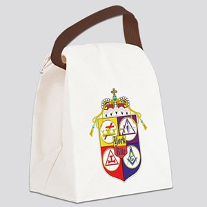 York Rite Freemason Shield Canvas Lunch Bag