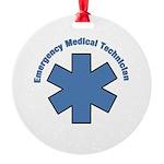 EMT Emergency Round Ornament