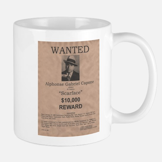 Al Capone Wanted Poster Mug