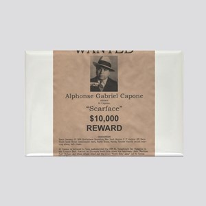 Al Capone Wanted Poster Rectangle Magnet