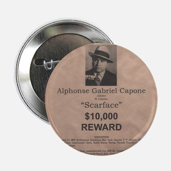 "Al Capone Wanted Poster 2.25"" Button"