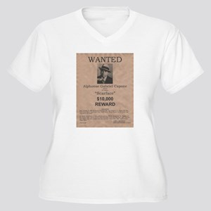 Al Capone Wanted Poster Women's Plus Size V-Neck T