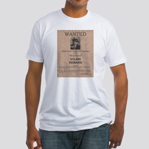 Al Capone Wanted Poster Fitted T-Shirt