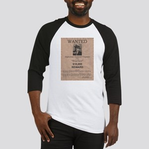 Al Capone Wanted Poster Baseball Jersey