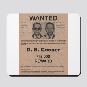 DB Cooper Wanted Poster Mousepad