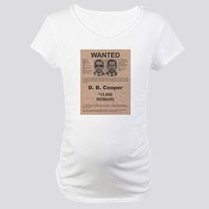 DB Cooper Wanted Poster Maternity T-Shirt