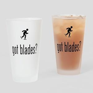Roller Blading Drinking Glass