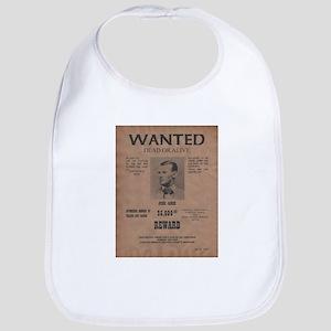 Jesse James Wanted Poster Bib