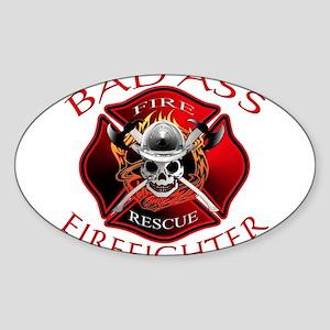 Bad Ass Firefighter Rectangle Sticker