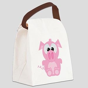 piggy Canvas Lunch Bag