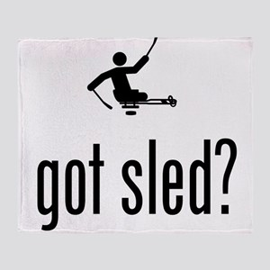 Physically Challenged Sled Hockey Throw Blanket