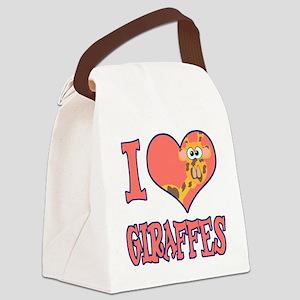 love giraffes Canvas Lunch Bag