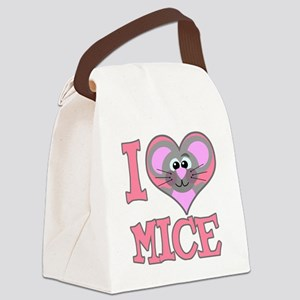 love mice Canvas Lunch Bag