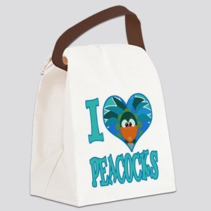 love peacocks Canvas Lunch Bag