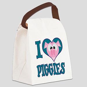 love piggies Canvas Lunch Bag