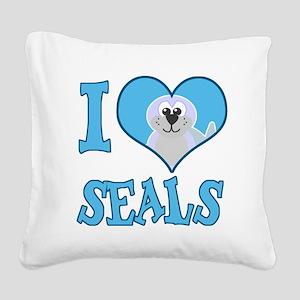 love seals Square Canvas Pillow