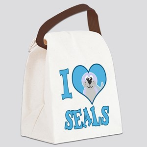 love seals Canvas Lunch Bag