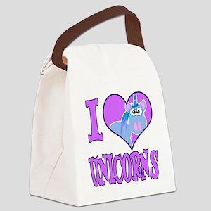 love unicorns Canvas Lunch Bag