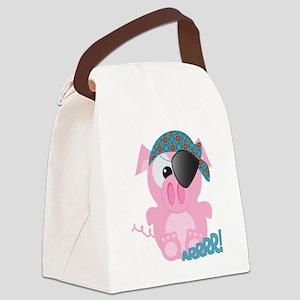 piggy pirate Canvas Lunch Bag