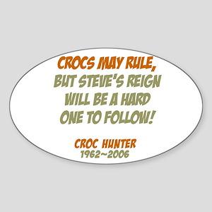 Crocs Rule Crikey Oval Sticker