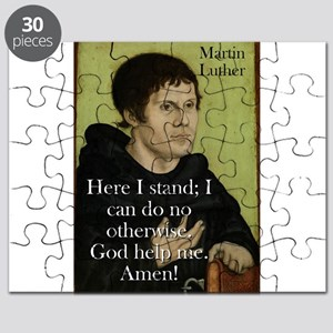 Here I Stand - Martin Luther Puzzle