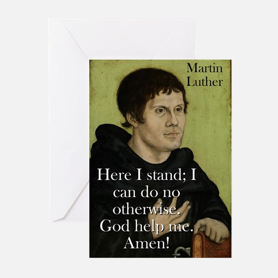 Here I Stand - Martin Luther Greeting Cards (Pk of