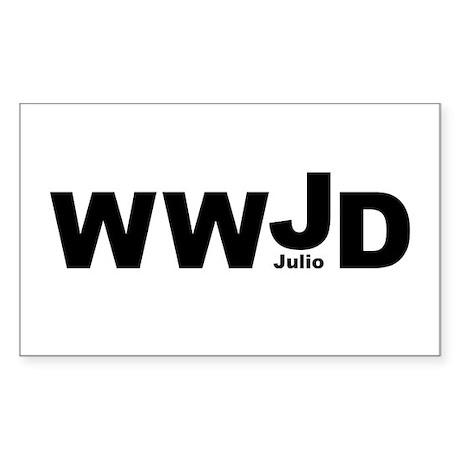 WWJD Julio Rectangle Sticker