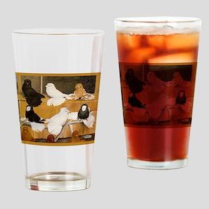 English Trumpeter Champions Drinking Glass