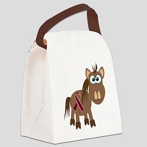 burg ribbon horse Canvas Lunch Bag