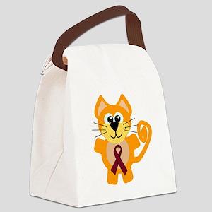 burg ribbon orange kitty cat Canvas Lunch Bag