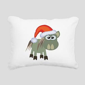 donkey santa Rectangular Canvas Pillow
